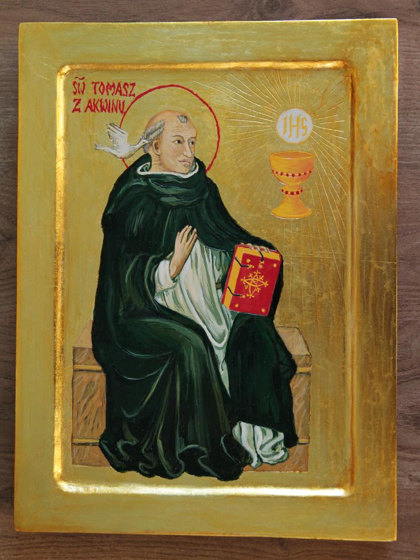 ikona św Tomasz z Akwinu