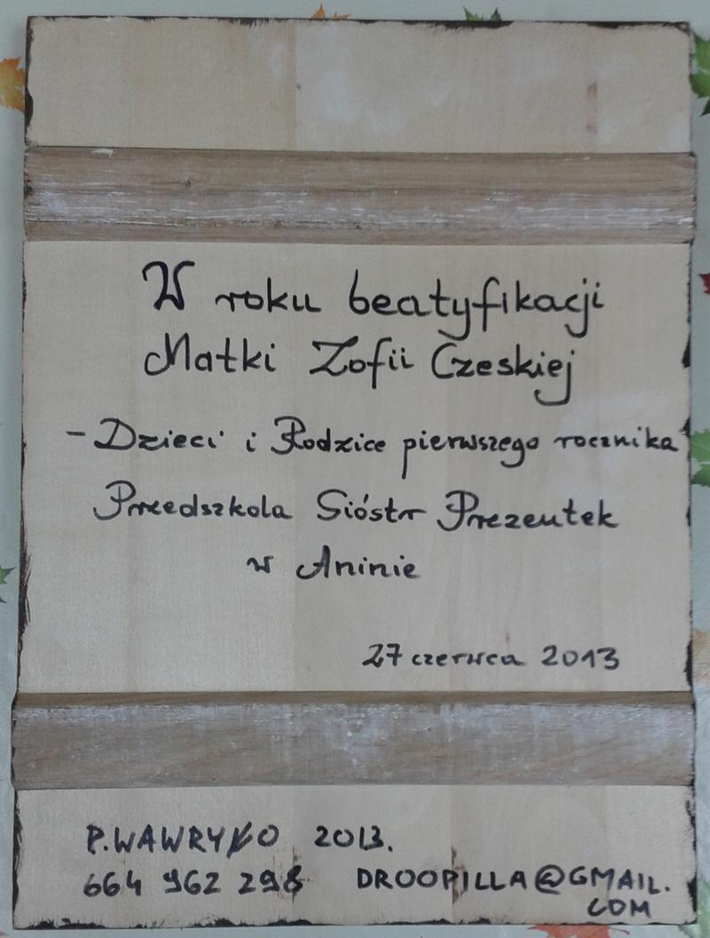 tył ikomy Matki Zofii Czeskiej